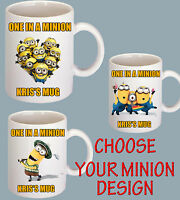 STUART BOB MINION  DESIGN - CHRISTMAS GIFTS-ADD YOUR NAME-PERSONALIZED MUGS