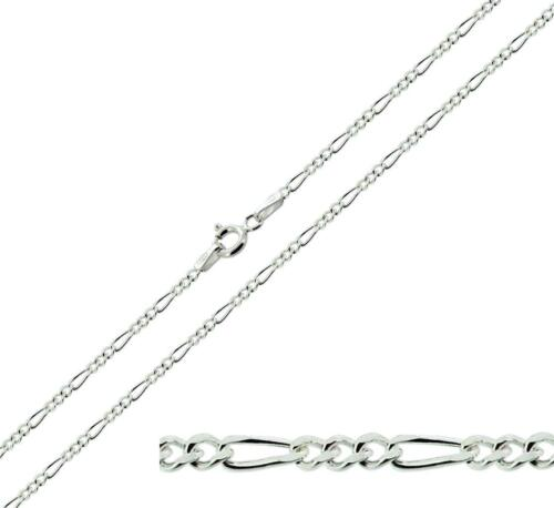 """925 Sterling Silver Figaro Chain Necklace 16 to 30/"""" inch Various Thicknesses"""