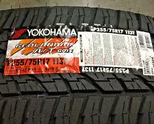 4 New 255 75 17 Yokohama Geolandar A/T G015 Tires