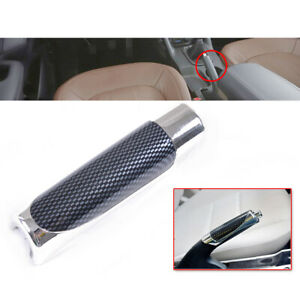 Durable-Car-Carbon-Fiber-Style-Hand-Brake-Handle-Hand-Break-Protect-Cover-New-x1