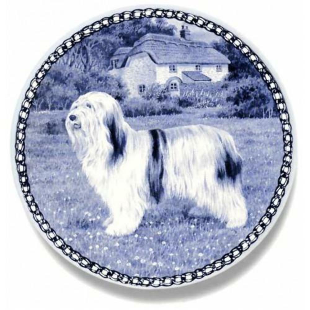Polnische Lowland Sheepdog- Dog Plate made in Denmark from the finest European Por