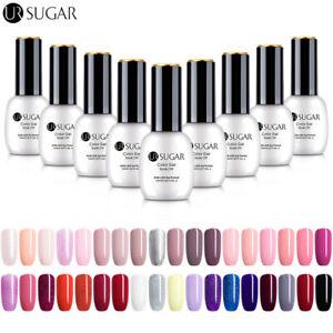 UR-SUGAR-15ml-Nail-UV-Gel-Polish-Soak-off-Nail-Art-Gel-No-Wipe-Top-Base-Coat
