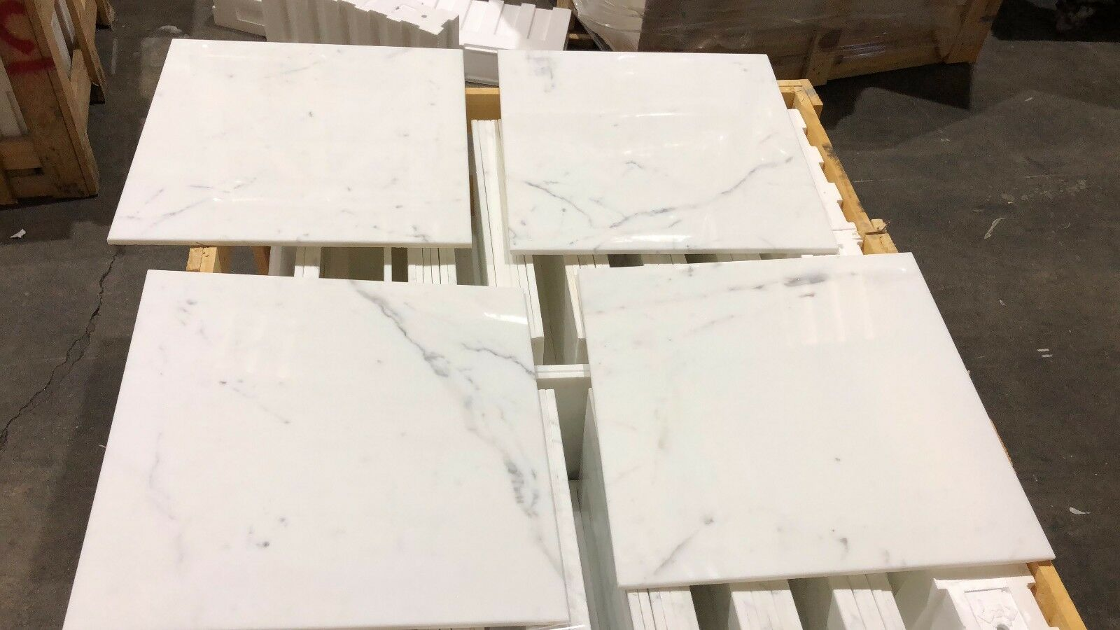 Marble Tiles, Calacatta Select Polished Marble Tiles Floor  Wall Cover 457X457MM