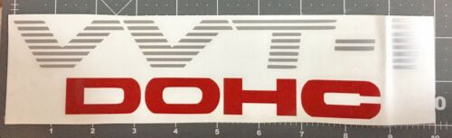 1 x VVT-I  black stripes and red DOHC car sticker 10/'/' x 2.2/'/'