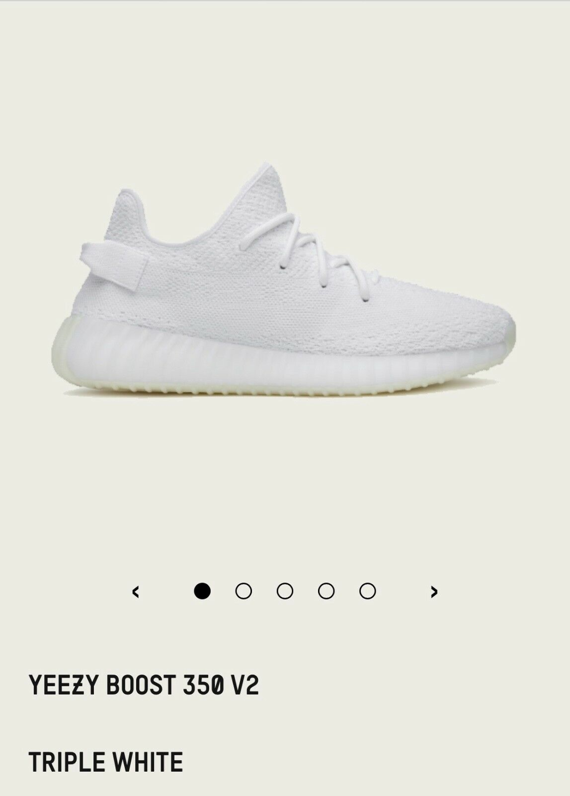 Adidas Yeezy Boost 350 V2 Size  us 8.5 - Triple White. 100% authentic.