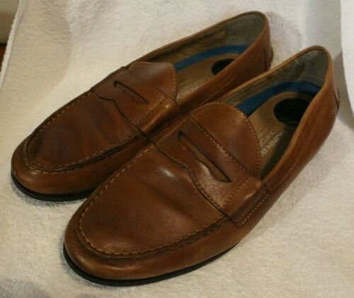 Nunn Bush Drexel 84744-221 Mens Brown Leather Low Top Penny Loafers Shoes