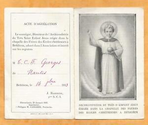 IMAGE-PIEUSE-HOLY-CARD-ARCHICONFRERIE-SAINT-ENFANT-JESUS-1913-BETHLEEM