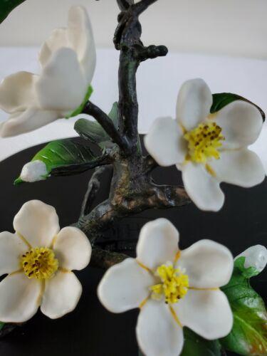 #Boehm at Home Nightingale Bird Sitting on the Pear Blossom Tree Figurine