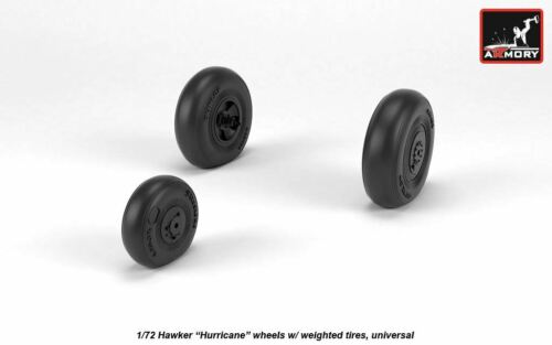 """universal 1//72 Armory AW72416 Hawker /""""Hurricane/"""" wheels w// weighted tires"""