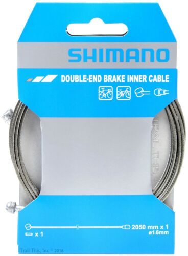 1 or 2-Pack Shimano Double-End Brake Inner Cable 2050mm x 1.6mm MTB//Road Bike