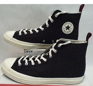 c0f8fa7a676 New Mens 11.5 Converse CTAS 70 Hi Heritage Felt Black Egret Shoes ...