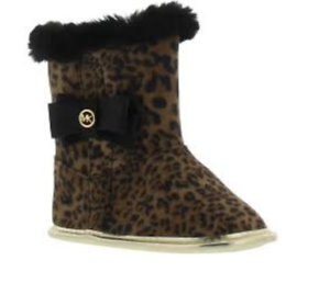 17f829652c9a4 Image is loading Michael-Kors-Baby-Baba-Cheetah-Print-Girls-Boots-