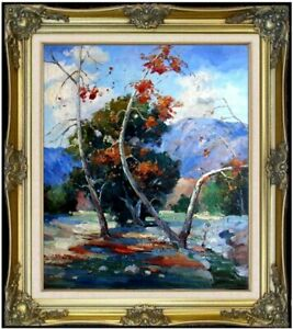 Framed-Quality-Hand-Painted-Oil-Painting-Impression-Foothill-20x24in