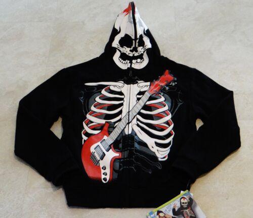 Boys Skull Zip Over Face Hoodie-NWT