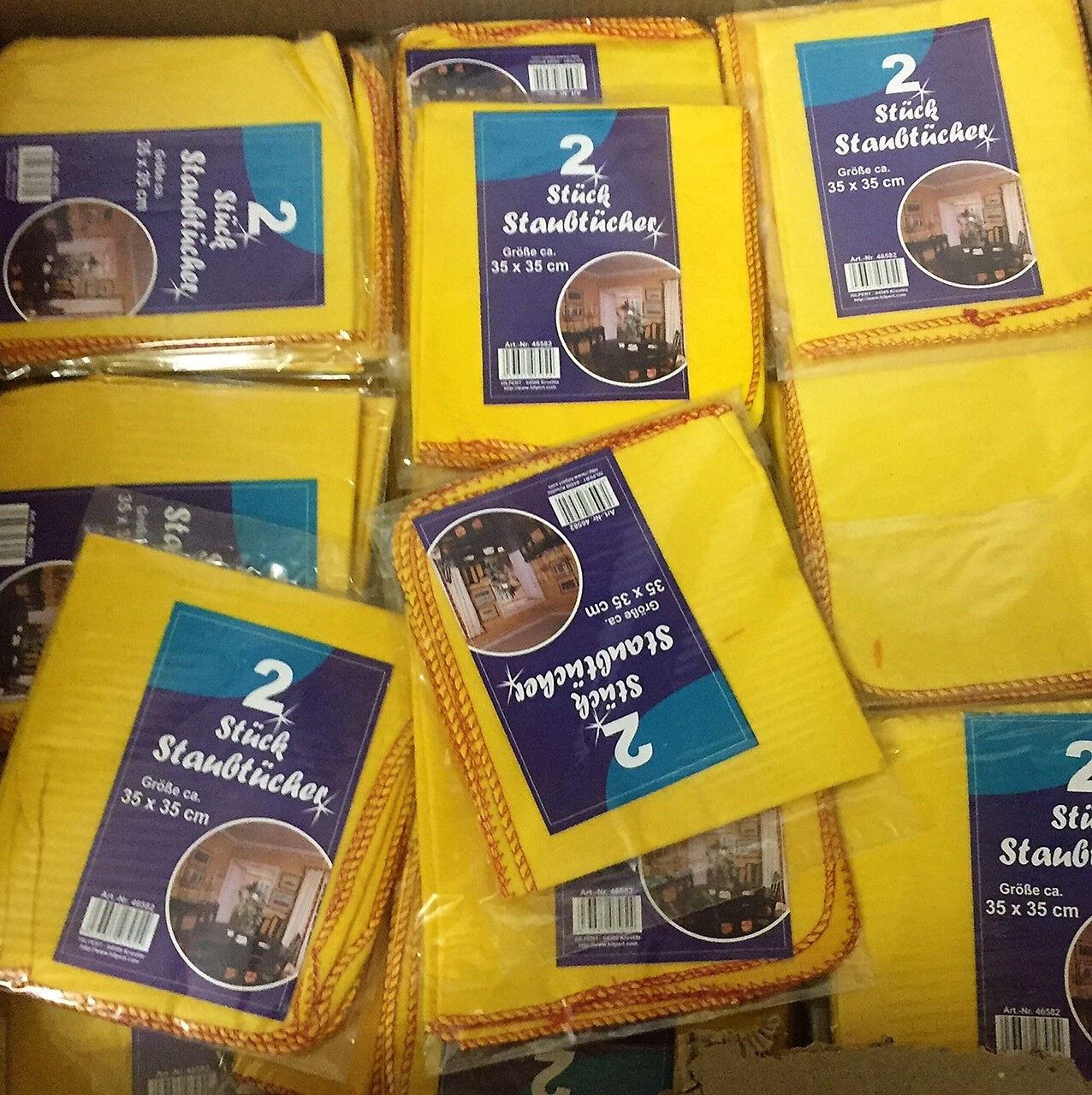 EF 50x 2er Staubtücher,Baumwolle,gelb,Staubtuch,Baumwolltuch,Putztuch,Tuch, H