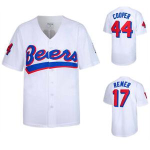 Joe-Cooper-44-Remer-17-Milwaukee-Beers-Movie-Vintage-Baseball-Jersey-Stitched
