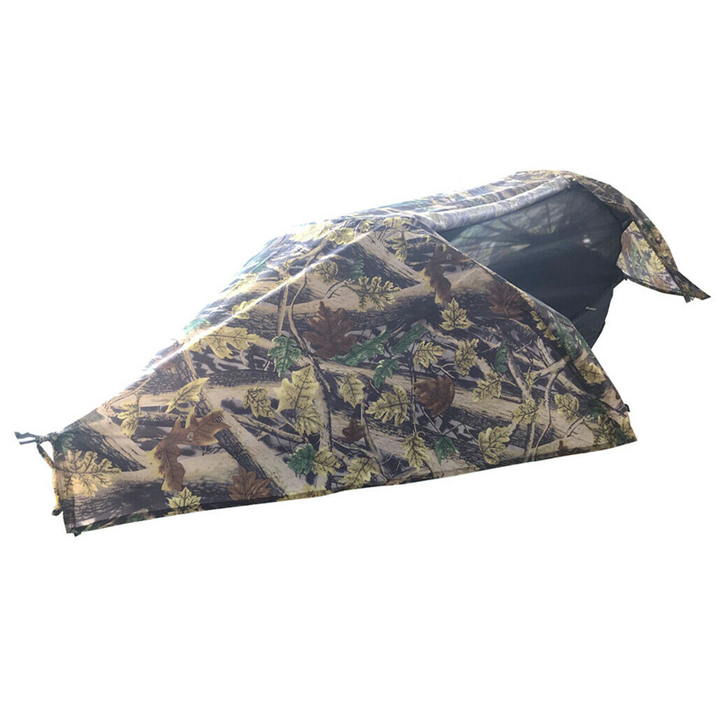 Wasserdichte Camping Hängematte mit Moskitonetz und Rainfly mit Bag Camouflage