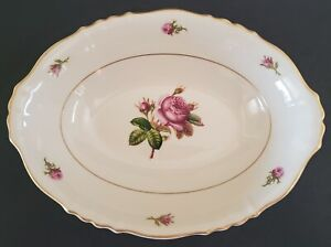 """Federal Shape Syracuse China Victoria Oval Serving Bowl Made in America 10 1/2"""""""