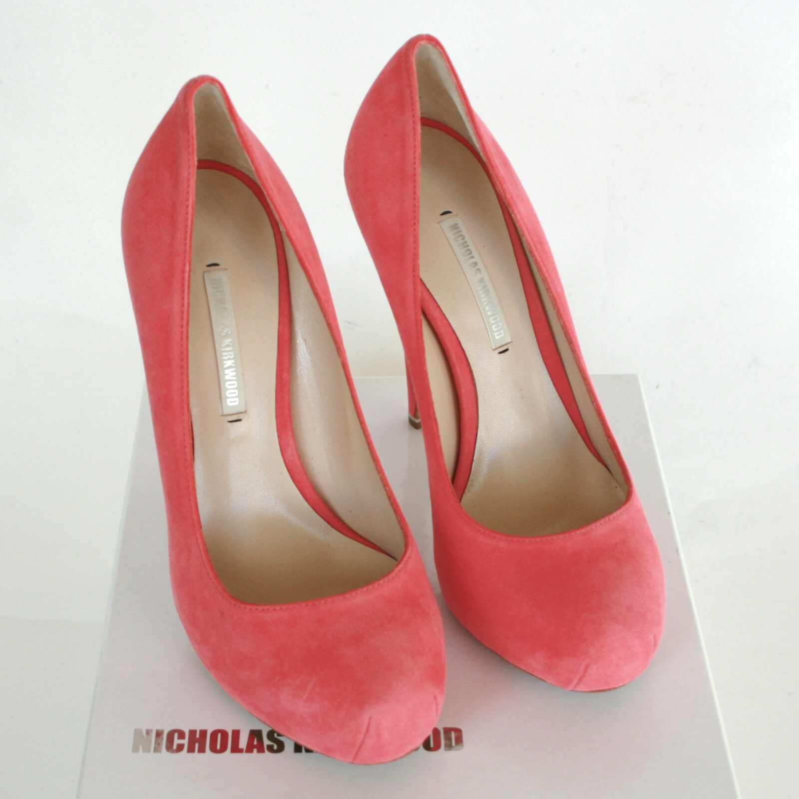 NICHOLAS KIRKWOOD 695 strawberry pumps pink suede high heel pumps strawberry schuhe 35 / 5 NEW c9f742