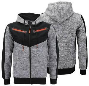 Details about Men's Fleece Zipper Moto Quilt Zip Up Hoodie Drawstring Sweater Jacket Slim Fit