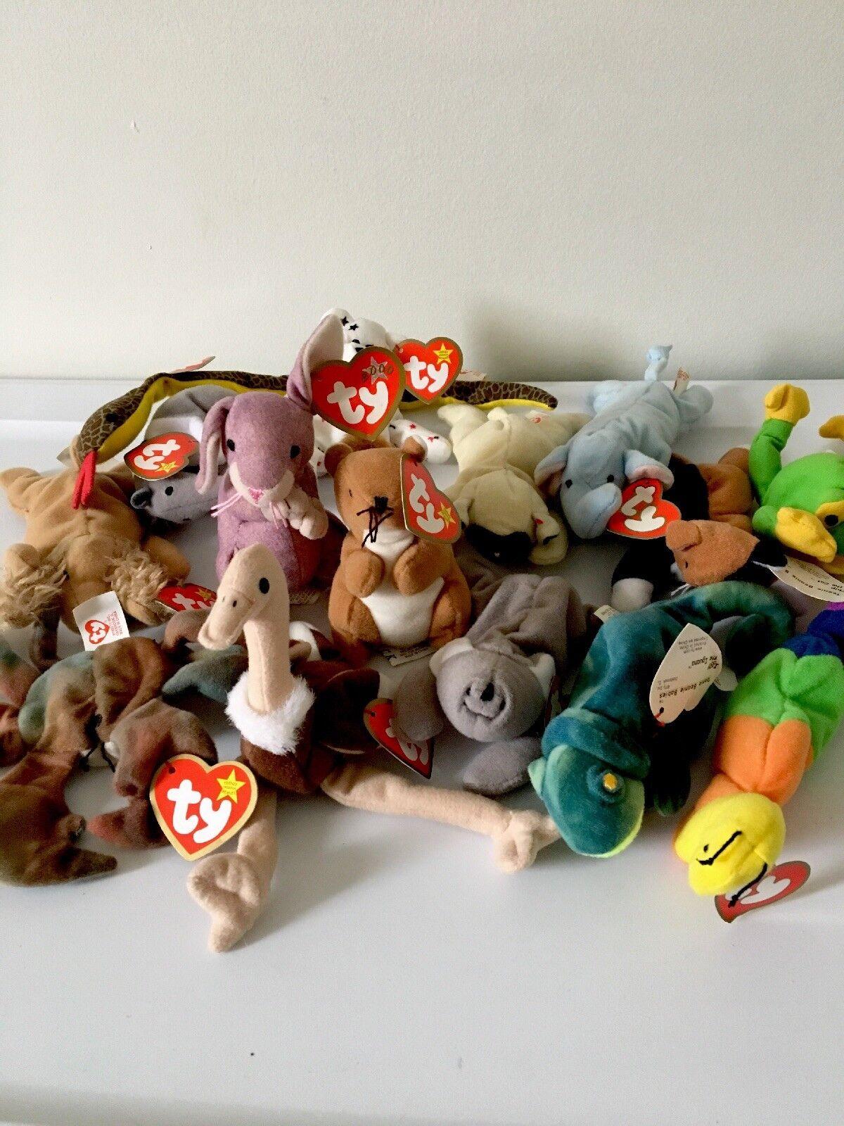 Teenie babys beanie babys Teenie wurden durch mcdonald 's mini - happy meal spielzeug viel tier. a479fe