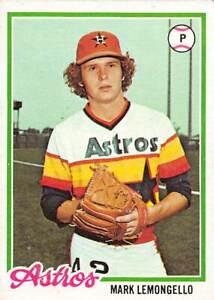 trading card Topps ASTROS 1978 MARK LEMONGELLO  #358