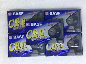 Lot-6-Cassettes-BASF-CE-II-90-Chrome-Extra-Neuves-NEW-SEALED