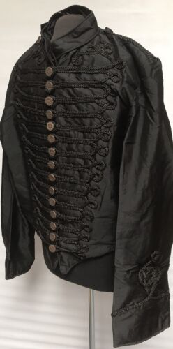 cappello 58 Taffeta M Sdl Cm stile Con Giacca taglia militare Mens Black qvx41Hz