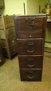 Details About Weis Vintage Antique Wood Filing Cabinet Wooden Mission Style 2