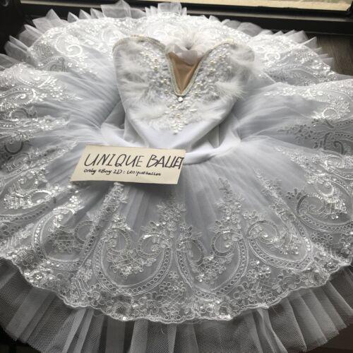 Adult Professional Ballet Tutu Skirt White Swan Lake Ballet Costume PancakeDress
