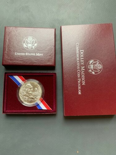 Blast White #575M 1999 Dolly Madison Uncirculated Silver Dollar in Plastic Cap