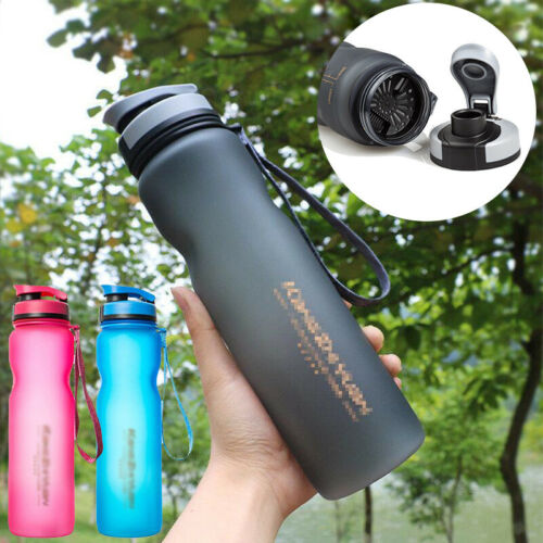 1L Plastic Water Drinking Bottle with Leakproof Outdoor Sport Running Gym School