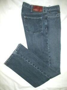II-gt-EDDIE-BAUER-Mens-RELAXED-Blue-Jeans-Sz-36-x-34-EXCELLENT