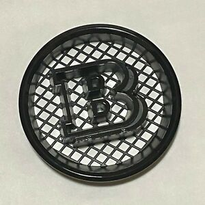 Black BRABUS B 3D Car Front Grill Emblem Badge Fit W463 G550 G500 G63 G65