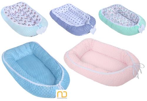 Babynest Kokon Reisebett Babykokon Kuschelnest Zweiseitig EU Minky Design