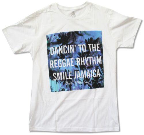 Bob Marley Dancin/' White T Shirt New Official Adult Reggae Rhythm Jamaica