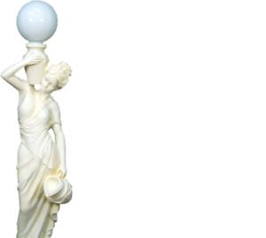 2019 Nouveau Style Grec Personnage Lampe Lampes Lampe Stand Lampadaire Lampes Xxl état Neuf-afficher Le Titre D'origine