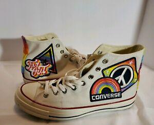 Details about Converse Allstar Chuck Taylor Pride & Peace Shoes (Size 9.5 Mens; 11.5 Women's)
