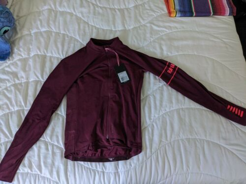Details about  /Rapha Pro Team Aero Thermal Cycling Jersey Size Small Red Maroon