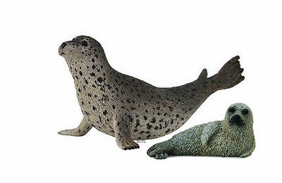 *NEW* CollectA 88658 88681 Spotted Seal & Pup Group - Set of 2