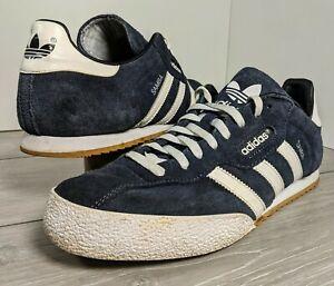 Adidas Samba Blue Suede Mens Trainers