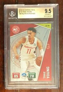 Trae-Young-2018-Adrenalyn-XL-C72-BGS-9-5-PSA-10-POP-1-ROOKIE-CARD