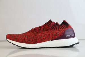 best sneakers 6b5b9 edaf7 Image is loading Adidas-Ultraboost-Uncaged-Tactile-Red-Burgundy-BY2554-8-