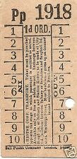 Bell Punch Ticket - Chester Corporation Transport - 1d.