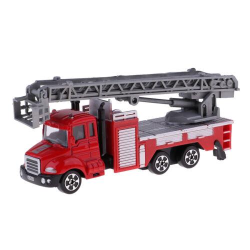 1//64 Skala Legierung Metall Diecast Feuerwehrauto Fahrzeug Kinder Spielzeug