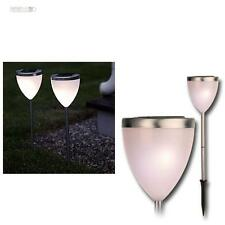 2 LED Lampade solari Pathlight, da giardino Acciaio inox
