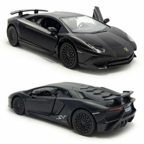 1:36 Lamborghini Aventador LP750-4 SV Model Car Diecast Toy Pull Back Black Gift