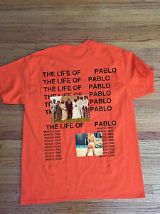 Image Is Loading KANYE WEST YEEZUS SAINT PABLO TOUR MERCH ORANGE