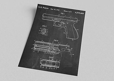 Glock 17 Gun Patent Print Blueprint