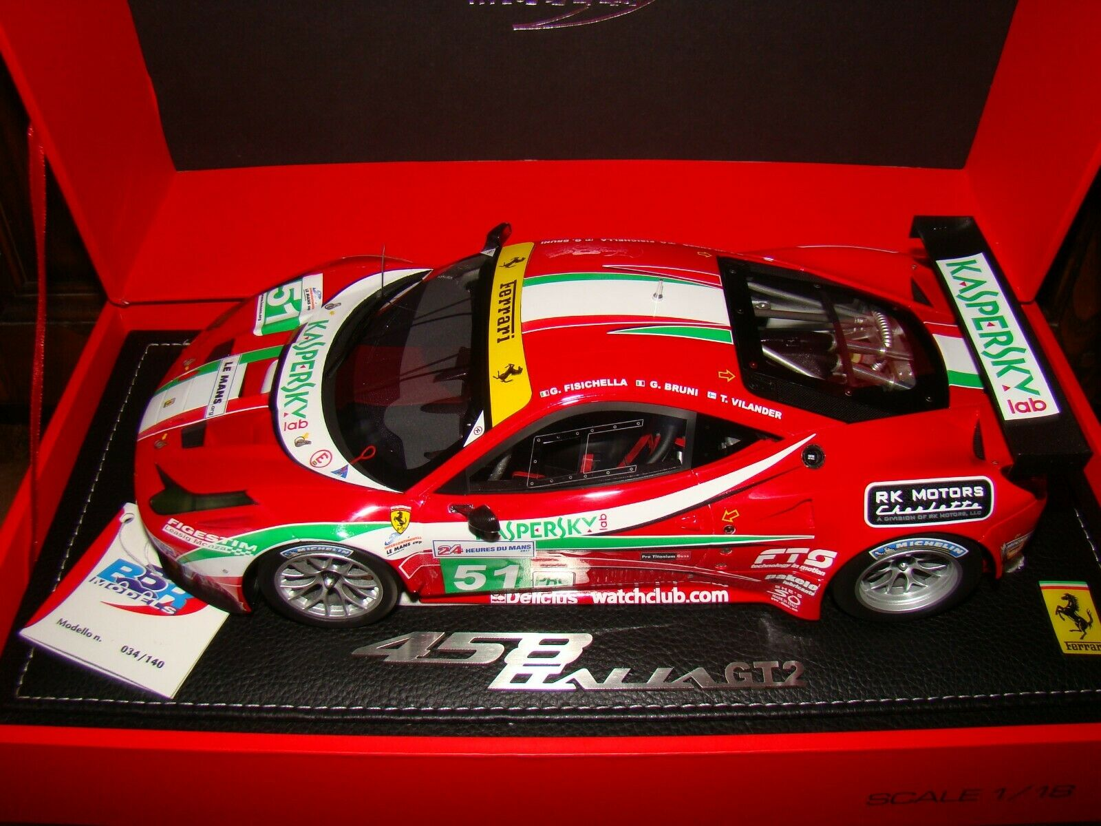 mejor calidad mejor precio FERRARI 458 458 458 ITALIA GT2 LE MANS 2011 BBR 1 18 EME LIMITED  súperBE ET TRES RARE  muchas sorpresas